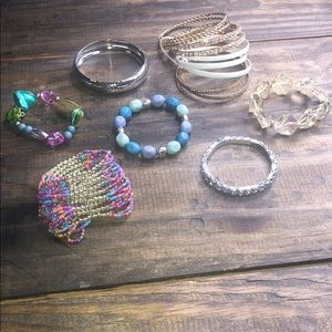 Jewelry - 6 bracelets and one set of bangles NWOT